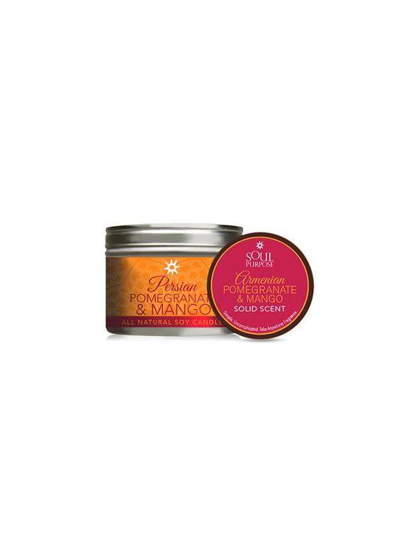 Pomegranate & Mango Candle/Solid Perfume Set
