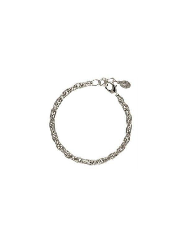 Silver Textured Rope Bracelet