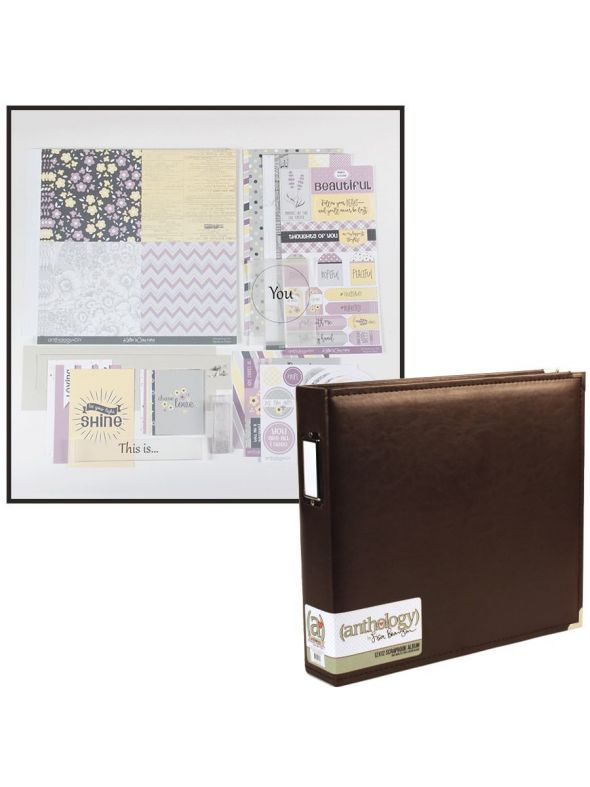 Whispering Lilac Layout Kit Album Bundle