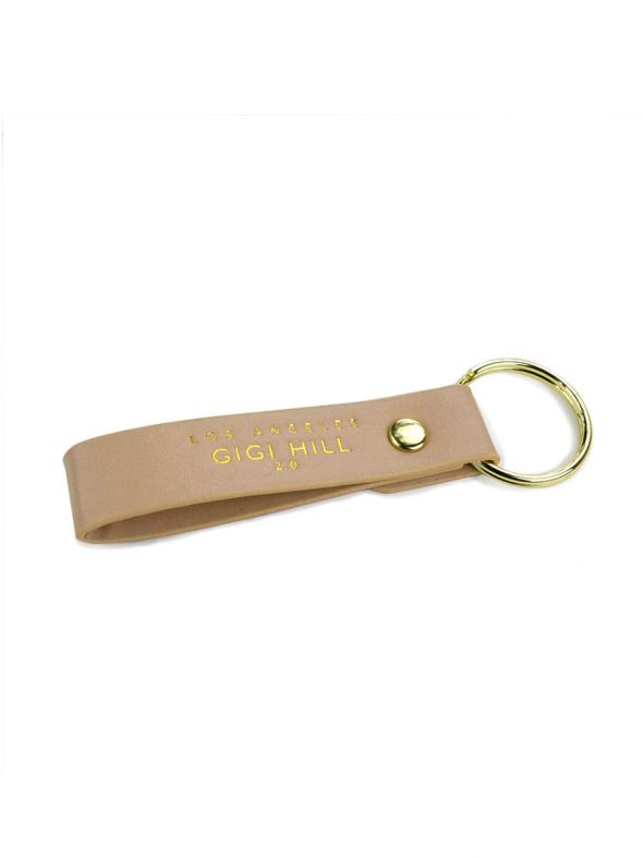 Kylie Tan Faux Key Chain
