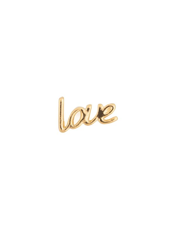 Gold Cursive Love Charm